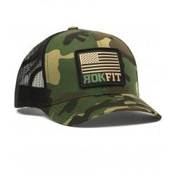Green Camo AMERICAN FLAG snapback hat | ROKFIT