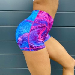 Training short multicolor MARBLE MADNESS for women | VOXY