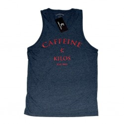 Débardeur large Homme Bleu navy pour sportif - CAFFEINE & KILOS