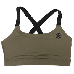 Brassière femme kaki SAVAGE ARMY pour athlète by SAVAGE BARBELL