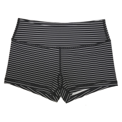 Short femme noir rayé blanc JAILHOUSE pour athlète by SAVAGE BARBELL