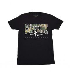 T-shirt black Logo T for men - CAFFEINE AND KILOS