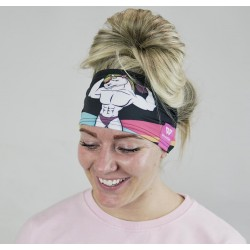 Black workout headband JACKED UNICORN - WODABLE
