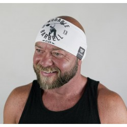 White workout headband BARBELL CLUB - WODABLE