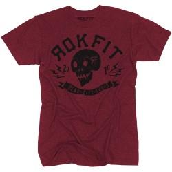 T-shirt red DEADLIFT SQUAD for men - ROKFIT