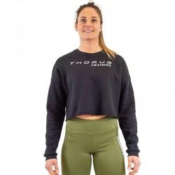 Training short cut sweat black for women - THORUS WEAR