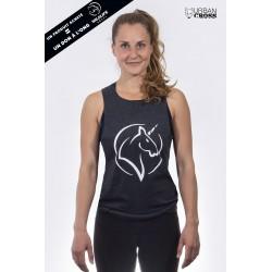 Training muscle tank dark grey UNICORN for women - URBAN CROSS