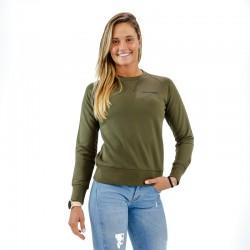 Sweat femme vert kaki BIO pour athlète by THORUS
