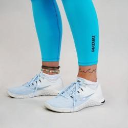 Legging Femme bleu AQUA 7/8 pour Athlète by WODABLE