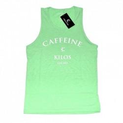 Training tank green mint for men - CAFFEINE & KILOS