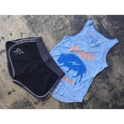 Training tank blue AMERICAN BISON for women|ROKFIT