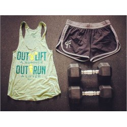 Training tank green OUT LIFT for women|ROKFIT