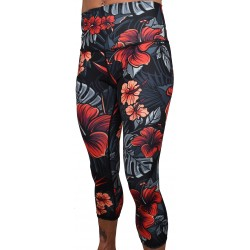 Training legging 3/4 high waist multicolor FIREBISCUS| PROJECT X