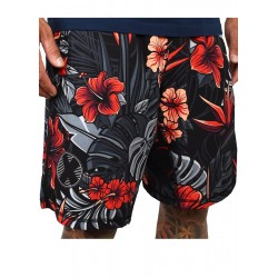 Training short HYBRID red FIREBISCUS for men   PROJECT X