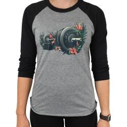 T-shirt unisex black / grey FLORA. FAUNA. FITNESS.| PROJECT X