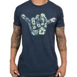 T-shirt blue HIBISCUS SHAKA for men | PROJECT X