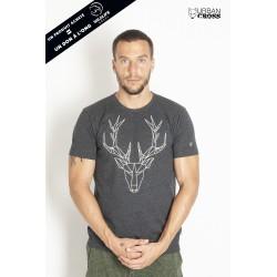 Training t-shirt dark grey POLYGON DEER | URBAN CROSS