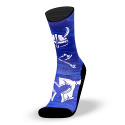 Blue workout socks VIKING - LITHE APPAREL