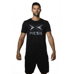 Training T-shirt black LOGO for men   PICSIL