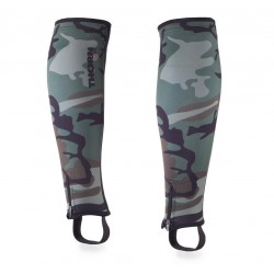 5 mm pair of Shin Sleeves Green Camo| THORN FIT