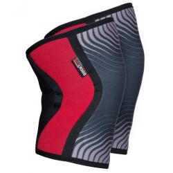 5 mm pair of Knee Sleeves RED stipes | ROCKTAPE