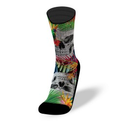 Multicolores workout socks JUNGLE SKULL | LITHE APPAREL