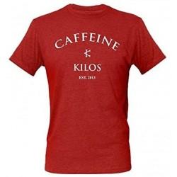 T-shirt sport Homme Caffeine and Kilos - Logo T Rouge