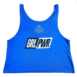 Crop top Royal blue GRL PWR for women   SAVAGE BARBELL