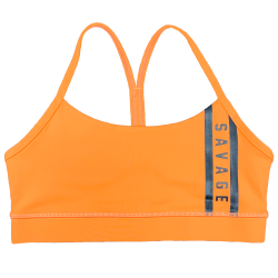 Training bra orange VIPER SQUAD for women | SAVAGE BARBELL