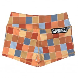 Training short multicolor DISCO SQUARE for women | SAVAGE BARBELL