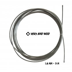 Grey uncoated cable 1.8 mm and 3 m | VERY BAD WOD