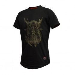 Training T-Shirt BLACK ODIN for men | THORN FIT