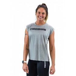 T-shirt femme GREY manches retroussées | THORUS WEAR