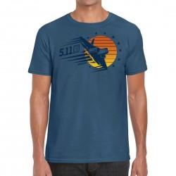 T-shirt blue SUNSET FIREPOWER 2020 Q3 for men | 5.11 TACTICAL