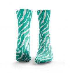 Multicolor workout ZEBRA mint green socks – HEXXE SOCKS