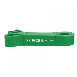 Elastic resistance band green 50 to 125 LB | PICSIL SPORT