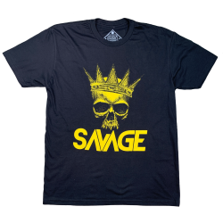 T-shirt black THE KING for men | SAVAGE BARBELL