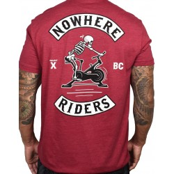 T-shirt red CARDINAL NOWHERE RIDERS for men | PROJECT X