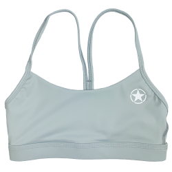 Training bra blue 2 STRAPS LOW CUT ICICLE for women | SAVAGE BARBELL