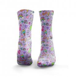 Multicolor workout GIRL POWER socks – HEXXE SOCKS