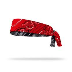 Reversible workout tie headband PAISLEY   LITHE APPAREL