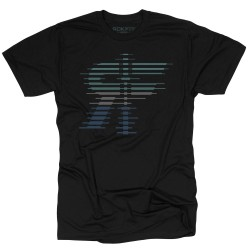 T-shirt black THE STRATA for men - ROKFIT