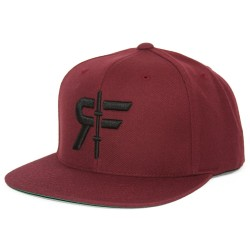 Red RF LOGO FLAT BILL HAT cap | ROKFIT