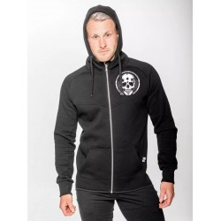 Black HEAVY SMALL SKULL Hoodies for men | NORTHERN SPIRIT