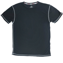 T-shirt black STEALTH PERFORMANCE STRAIGHT for men | SAVAGE BARBELL