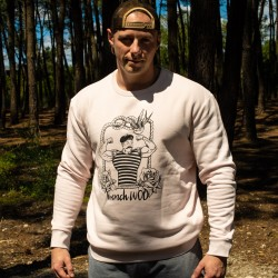 Unisex Sweat-shirt pink FRENCH WOD | VERY BAD WOD x WILL LENNART TATOO