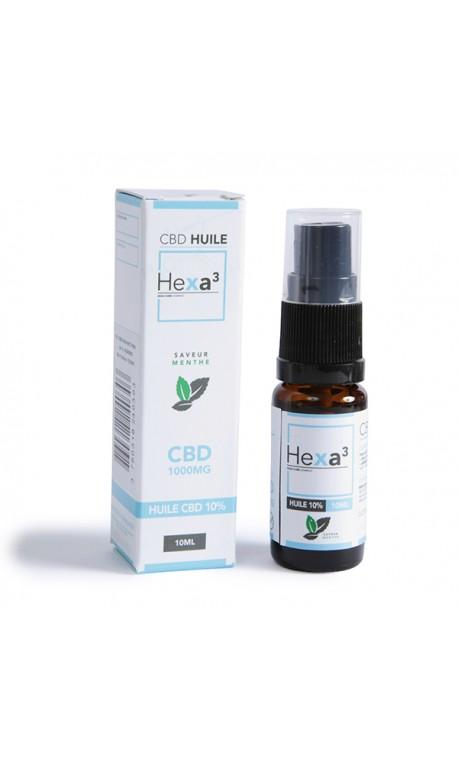 MCT CBD oil 10% 10 ml bottle mint flavor | HEXA3