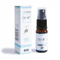 MCT CBD oil 10% 10 ml bottle vanilla flavor | HEXA3
