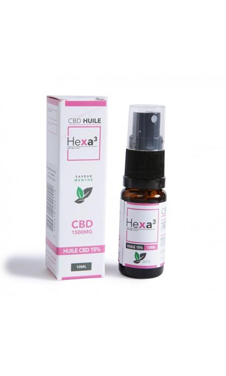 MCT CBD Oil 15% 10ml Bottle mint flavor| HEXA3