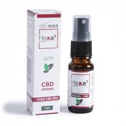 MCT CBD Oil 20% 10ml Bottle mint flavor | HEXA3